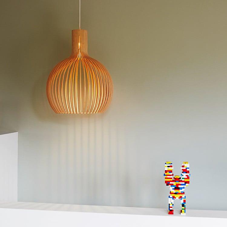 seppo koho lamp with a lego man